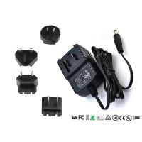Buy cheap AC DC Wall Mount Interchangeable Plug Power Adapter Input 50hz / 60hz 12V 0.5A product