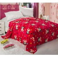 Buy cheap Red Fleece Printed Micro Fiber Blanket 100% Polyester For Warm Mattress product