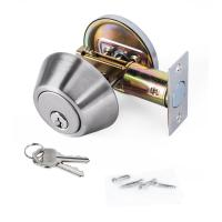Buy cheap High Security SUS304 Single Cylinder Deadbolt Door Locks Plated Nickel Finish product