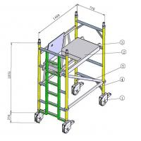 Buy cheap Painting Indoor, Outdoor Anti - Skid Aluminium Mobile Scaffold / Scaffold Towers product