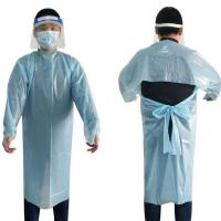 Buy cheap Anti - Statics CPE Disposable Protective Gowns Thumb Loop Dustproof Civil Usage product