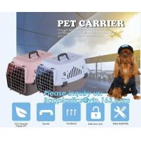 Fashion Design Luxury Travel Pet Air Carrier Dog /Cat Transport Plastic Cages Wholesale, dog pet cage pet carrier dog ba
