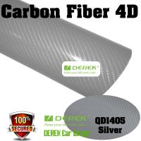 Buy cheap 4D Glossy & Shiney Carbon Fiber Vinyl Wrapping Films--Silver product
