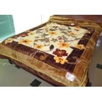 Buy cheap Double Ply Breathable 100% Polyester Blanket Printed With Artistic Carvings product