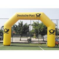 Buy cheap 8.4m Commercial Full Printed PVC tarpaulin yellow color advertising inflatable archway for brand promotion product
