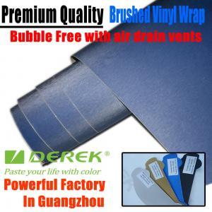 Buy cheap Brushed Aluminum Vinyl Flex Car Wrapping Film -- Brushed Vinyl Dark Blue product
