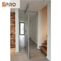 Buy cheap Internal Aluminum Pivot Sliding Door With Double Glazed Glass Wind Load Resistance product