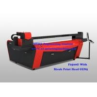 Buy cheap Commercial Wide Format UV Printing Machine CMYK  Lc  Lm 6 Color Touch Screen product