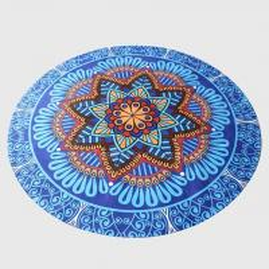 Buy cheap Customized pattern Mandala printed round yoga mat natural rubber mat meditation mat from wholesalers