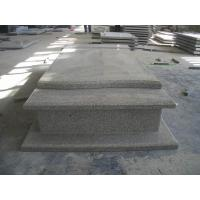 Buy cheap Western Style Grey Granite Stone Tombstone Straight Carving Flat Grave Monuments product