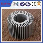 Buy cheap Aluminum round heat sink extrusion, Custom made round clear anodized aluminum heatsink product