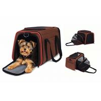 China Breathable Brown Airline Approved Pet Carrier Bag For Puppies Kittens Rabbits on sale