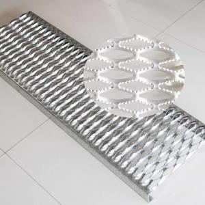 China Anti - Slip Diamond Galvanized Steel Grating on sale