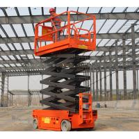 Buy cheap Lightweight Self Propelled Scissor Lift 10m Industrial Electric Scaffold Lift product