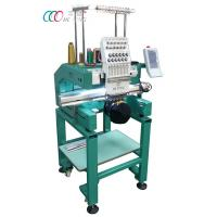 China Multi-color Single Head Cap / Shirt Embroidery Machine With Auto Trimming on sale