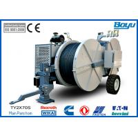 Buy cheap 14Tons Cummins Engine Tension Stringing Equipment With OPGW / ADSS Conductor Main Motor German Rexroth from wholesalers