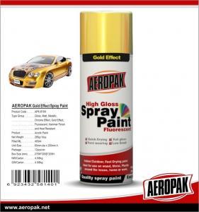 Quality AEROPAK Metallic spray paint, all purpose auto acrylic resin paint for sale