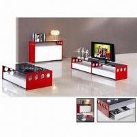 Buy cheap TV stand with MDF and red high glossy painting product