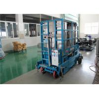 Buy cheap 400kg Capacity 12 Meter Mobile Scissor Lift Platform Four Mast For Two Men product