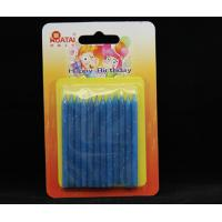 Buy cheap Blue Color Children's Birthday Candle Decoration With Glitter Non Scented Safe product