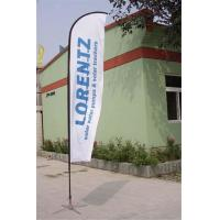 Buy cheap Double / Single Side Printing Outdoor Advertising Sail Banners 100% 110g Polyester product