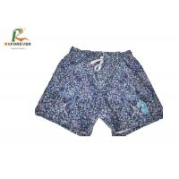 Buy cheap Elastic Band Sublimated Men Board Shorts , Peach Skin 100% Polyester Mens Swim Trunks from wholesalers