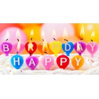 Buy cheap Cute Balloon Shaped Letter Birthday Candles Multi Colored 100% Paraffin Wax product