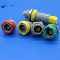 China 3 Pin Plastic Circular Connectors Female Push Pull Socket For PCB Welding on sale