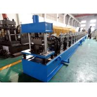 Buy cheap Galvanized Quad Gutter Roll Forming Machine , Electric Control Gutter Rolling Machine product