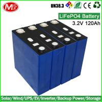 Buy cheap Electric forklift rechargeable lithium ion battery 3.2V 120Ah LiFePO4 battery cell product