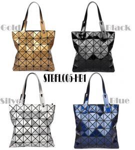 Buy cheap WHOLESALES fashion handbag Geometric Ladies shopper Bag Glossy design Women Tote from wholesalers