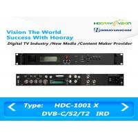 Buy cheap Digital Satellite Receiver DVB-C DVB-S2 DVB-T2 Input  ASI IP output support CAM product