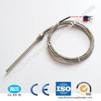 Buy cheap Electric 3- Wire Thermocouple RTD Pt100 For 300c 600C In High Temperature product
