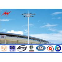 Buy cheap minimum yield strength>=355n/mm2 wuxi wholesale high mast steel poles from wholesalers