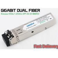 Buy cheap 1.25G 850nm Fp 550m Lc Mmf Small Form Factor Pluggable Transceiver Fcc Compliant Sfp product