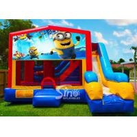 Buy cheap 7in1 kids Despicable Me minion bounce house with basketball hoop N obstacles inside for sale product