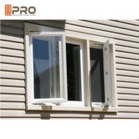 Buy cheap Aluminium French Triple Casement Windows Replacement In White Color product