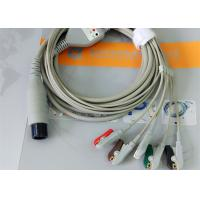 Buy cheap Compatible Generic AAMI 6 Pin One Piece Ecg Lead Wires 5 Leads OD 4.00mm product