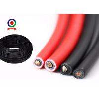 Quality Good Cold Flexibility Single Core Solar Cable , DC Solar System Cable TUV Approved for sale