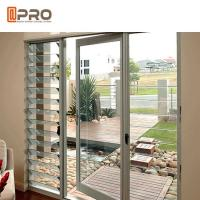 Buy cheap Grey Color PVDF Aluminium Hinged Doors With Outward Opening Direction product