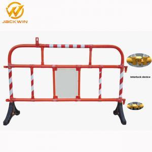 Buy cheap 1500*1000Mm Road Plastic Traffic Barriers 360 Degree Swiveled Feet Interlock product