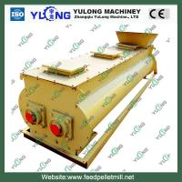 Buy cheap 5.5KW Cattle Feed Mixing Machine , Dual Shaft Biomass Sawdust Mixer product