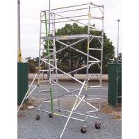 Buy cheap Outdoor Lightweight Wheels Aluminium Mobile Scaffold For Cleaning Gutters product