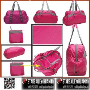 Buy cheap 420D nylon foladble tote hand bag-travel bag-fashinal luggage-gift promotional bag product