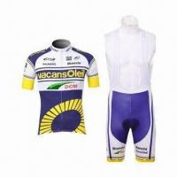 China Sublimation Printing Cycling Jersey, with Coolmax Material, Various Sizes are Available on sale