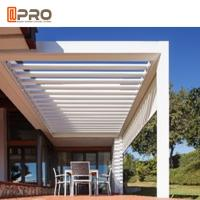 Buy cheap Water Resistant Aluminium Pergola Systems With LED Light Powder Coated Frame Finishing product