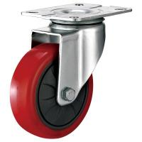 Buy cheap Pressed Steel Housing PU Caster Wheel For Case Carts Utility Carts 50mm from wholesalers