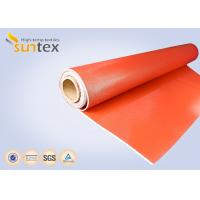 0 7 mm Thickness Silicone Coated Fiberglass Cloth For Fire