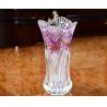 Buy cheap Lead Free Galle Glass Vase Machine Made Diamond Designer House KTV Hotel product