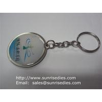 Buy cheap Epoxy Dome Coin Holder Keychains, Clear Resin Domed Print Coin Holder Key Ring product
